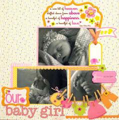 Our Baby Girl Layout *Doodlebug Design*