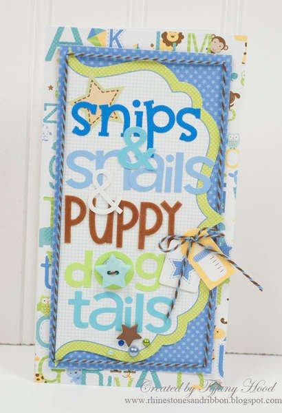 """Snips & Snails"" Card *Doodlebug Design*"