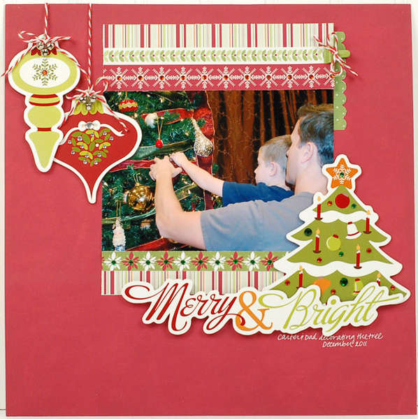 """Merry & Bright"" Layout *Imaginisce*"