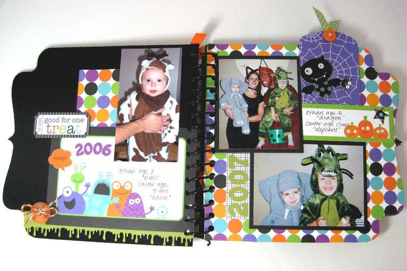 Halloween Costume Mini Album (Page 3-4) *Doodlebug*