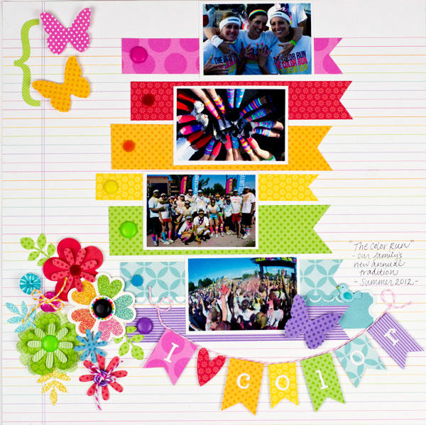 """I Love Color"" Layout *Doodlebug Design*"
