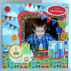 Happy 4th Birthday Layout *Doodlebug*