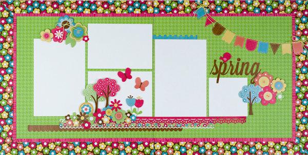 Spring National Scrapbook Day Layout *Doodlebug*