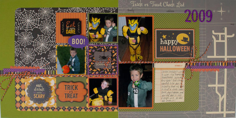 """Trick or Treat"" Layout *Pebbles*"
