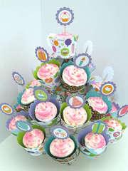 Cake & Ice Cream Birthday Party- Cupcake Tower 1 *Doodlebug Design*