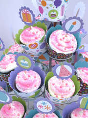 Cake & Ice Cream Birthday Party- Cupcake Tower 2 *Doodlebug Design*