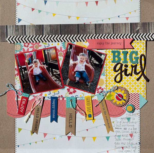 """Big Girl"" Layout *Pebbles*"