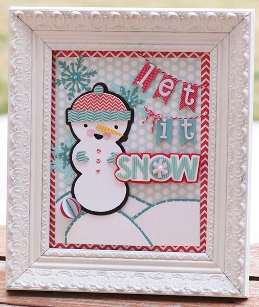 Let It Snow Frame *Pebbles*