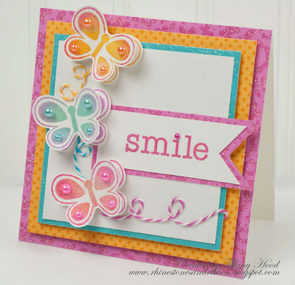 Smile Card *Doodlebug Design Stamps*