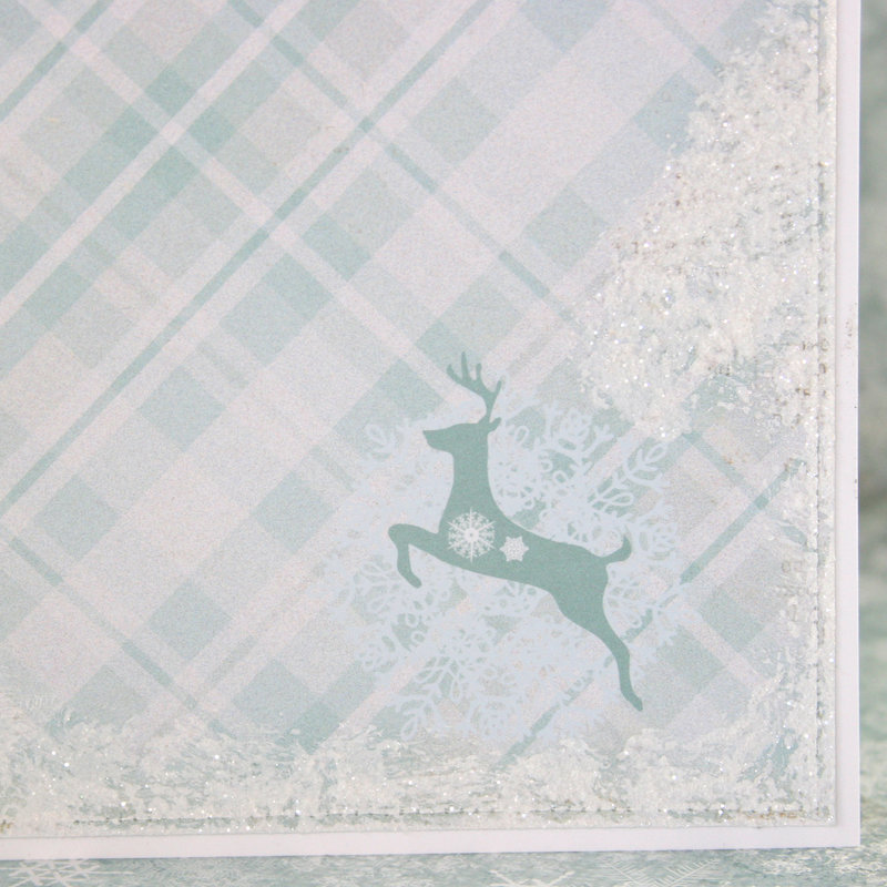 """Card using """"Frozen Paper"""" by Craft & You Design ~ faux snow"""