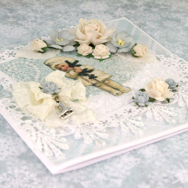 """Card using """"Frozen Paper"""" by Craft & You Design ~ Front"""