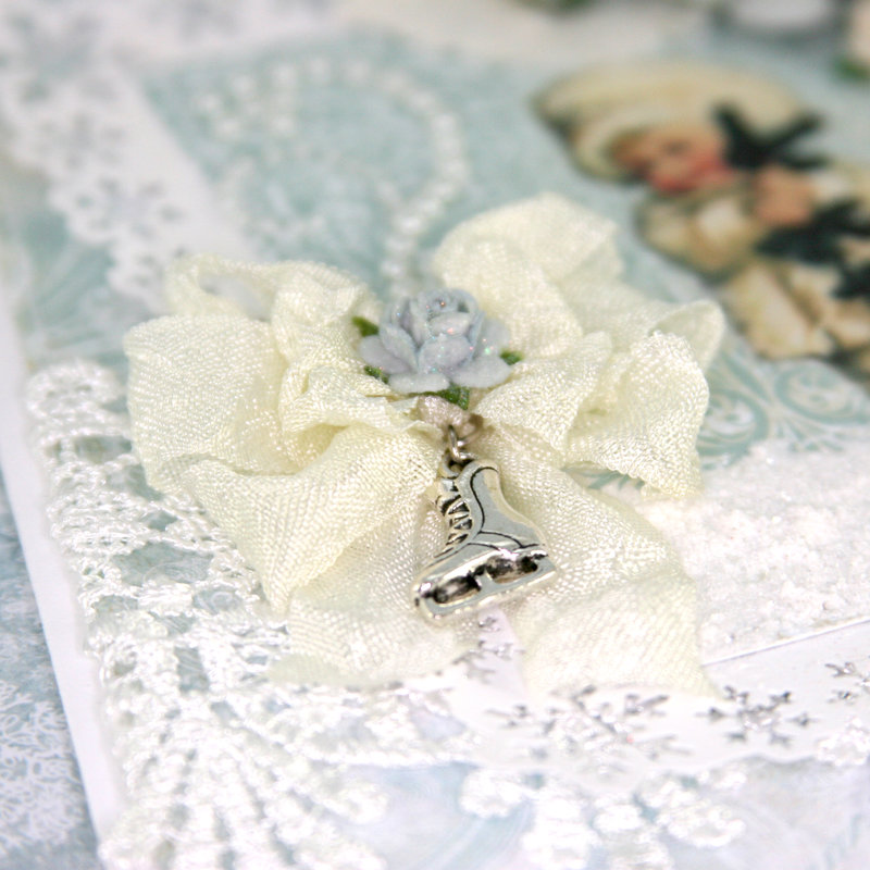 """Card using """"Frozen Paper"""" by Craft & You Design ~ Bow & Charm"""