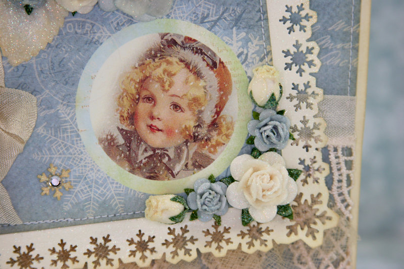"Vintage winter card made with ""Frozen Paper"" from Craft & You Design!! :)"