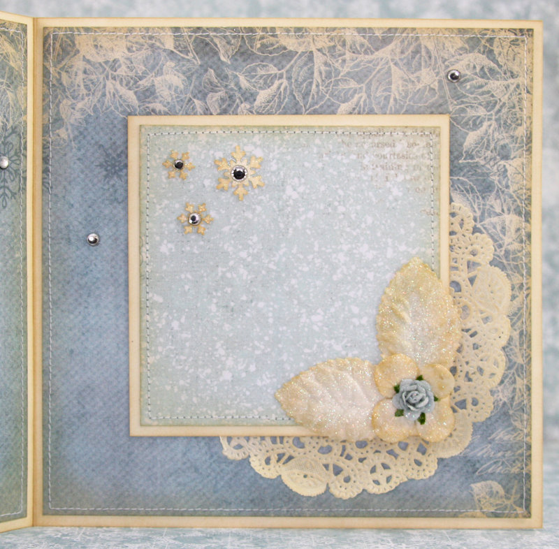 """Vintage winter card made with """"Frozen Paper"""" from Craft & You Design!! :)"""