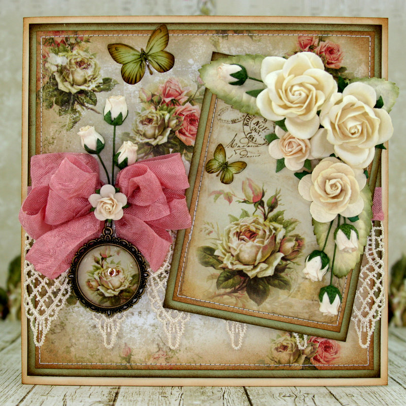 "Card using ""House of Roses"" Collection by LemonCraft in Poland!! :)"