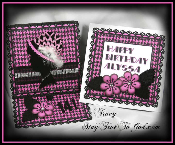 Digi Hybrid Easel Card for Alyssa's 14th Birthday!! :)
