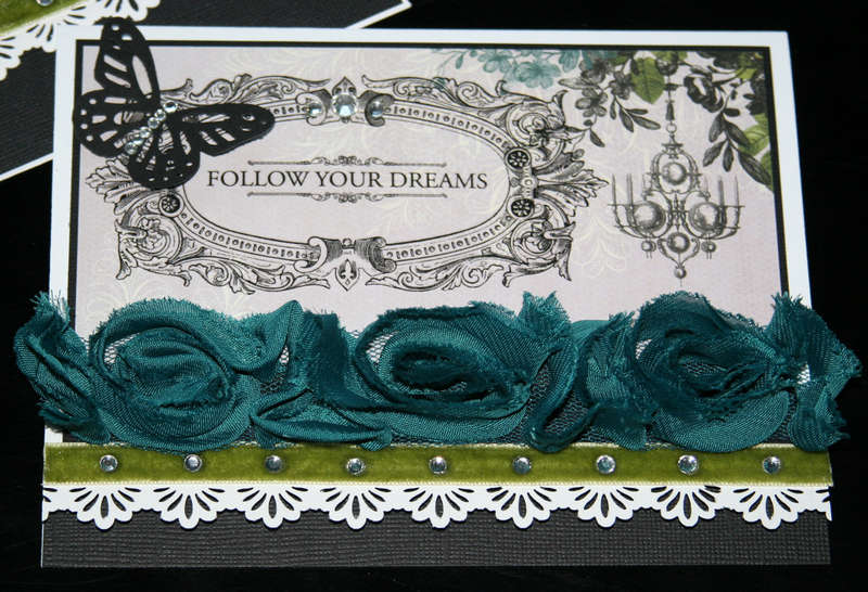 """Follow Your Dreams"" - Webster's Pages Card (close-up)"