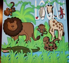 3D Jungle 12x12 Picture