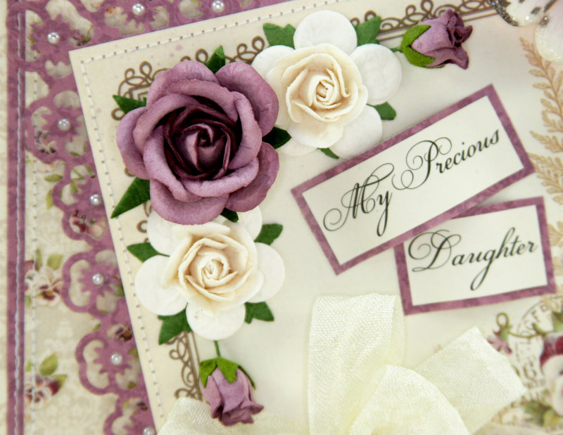 """Pansy card using the """"My Precious Daughter"""" Collection by Pion Design!! :)"""