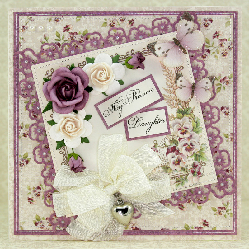 "Pansy card using the ""My Precious Daughter"" Collection by Pion Design!! :)"