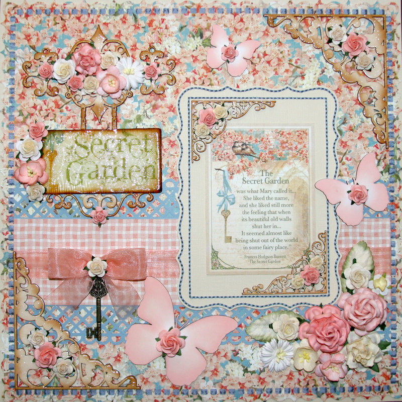 "STTG Chipboard, G45 ""Secret Garden"" & WOC Flowers"