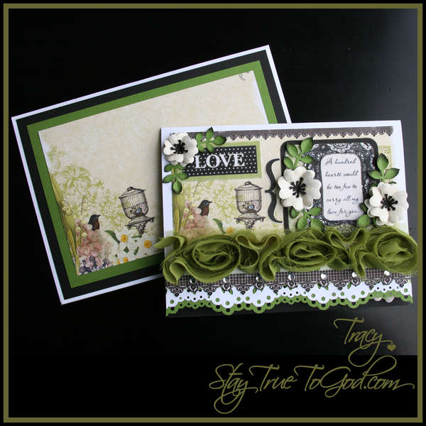 """""""LOVE"""" Card & Envelope - Webster's Pages 1,2,3 Scraplift Challenge"""