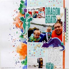 scrapbook layout: Dragon Boats