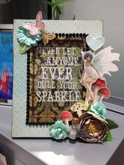 Never Let Anyone Dull Your Sparkle (Altered Frame)