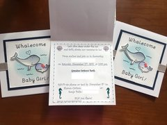 Whalecome Baby Girl! (Baby Shower Invitations)