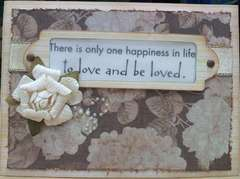 To Love and Be Loved (Anniversary card)