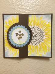 Sunflower Thank-You Card Opened