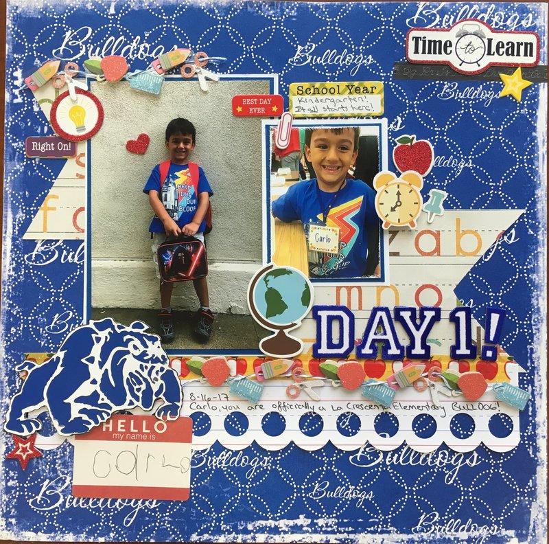 Day 1! Kindergarten