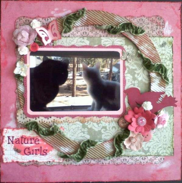 Nature Girls *Scraps of Darkness* & PINK Challenge