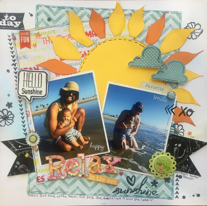 Relax in the Sun (August Ugly Paper Challenge)