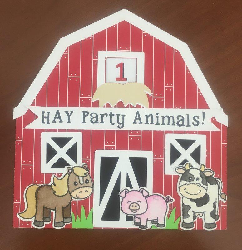 1st Birthday Card (Farm-theme)