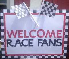 Welcome Race Fans Birthday Sign