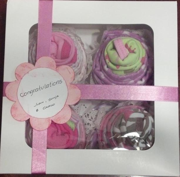 Cupcake Onesie Gift Box (all Together)