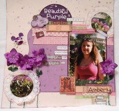 Disney Beautiful Purple Flowers