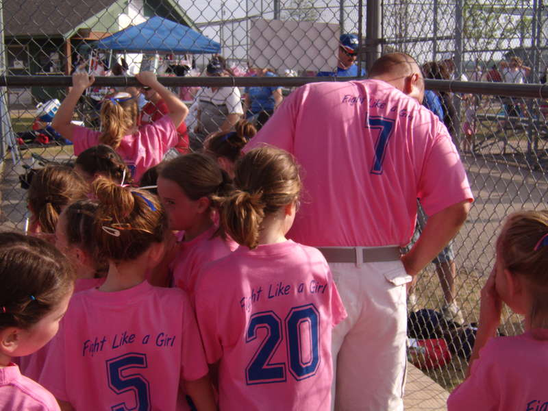 Strike out cancer tournment - Back of their shirts