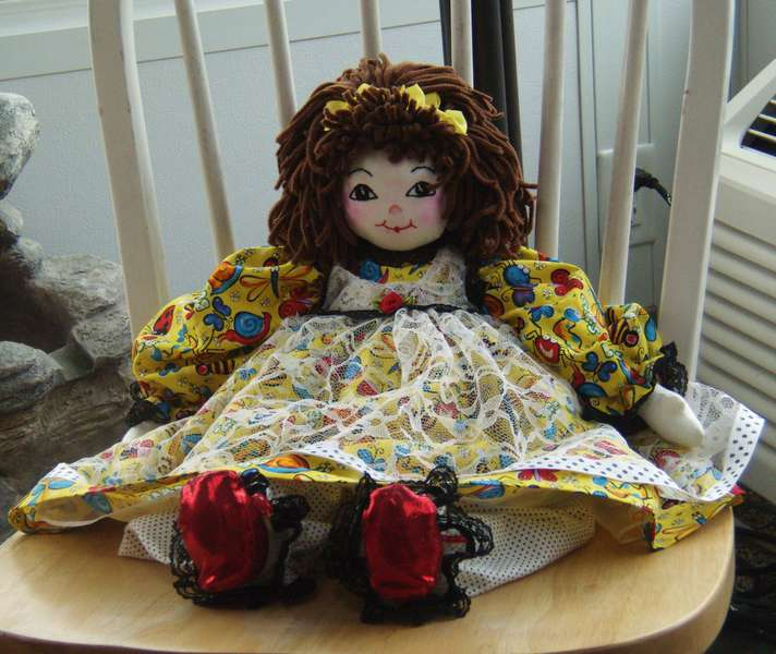 Doll I made for Lydia's 1st birthday May 1