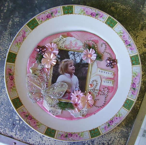 Altered Vintage Plate