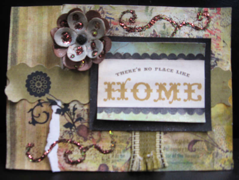 Gold and Brown Home Card