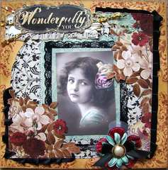 Wonderfully you 12x12 premade page