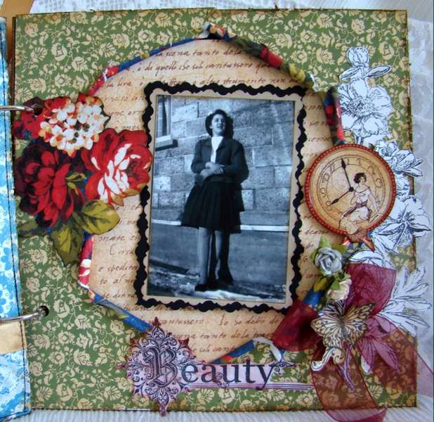 vintage 8x8 chipboard album