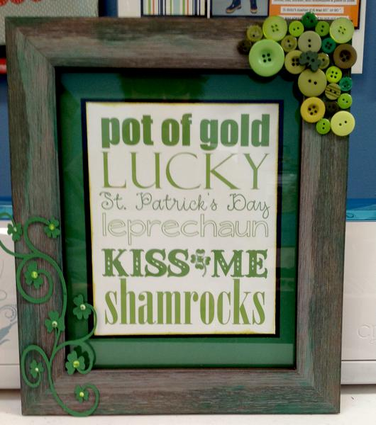 St. Pats altered frame