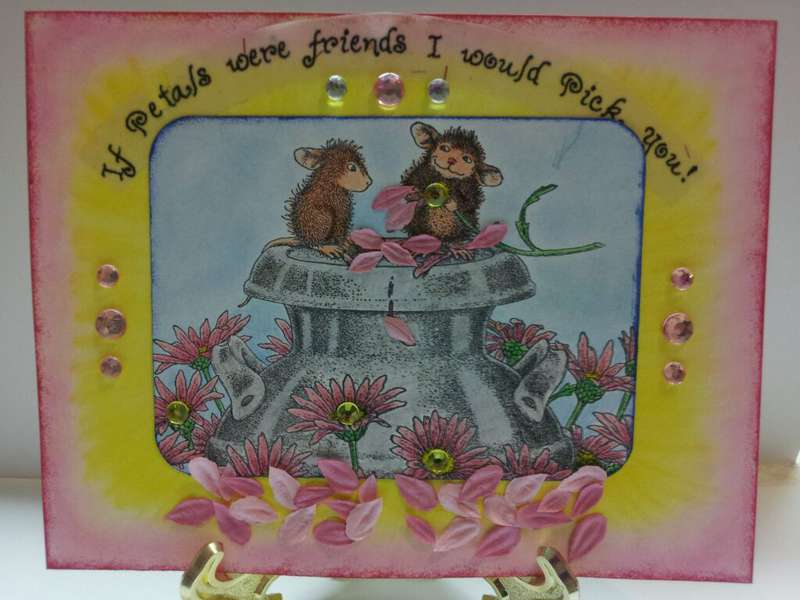 friend house mouse card