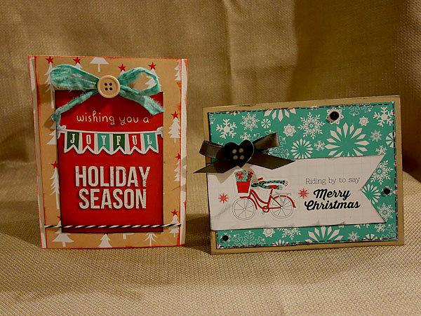 Christmas Cards (made with Joyful digital kit)