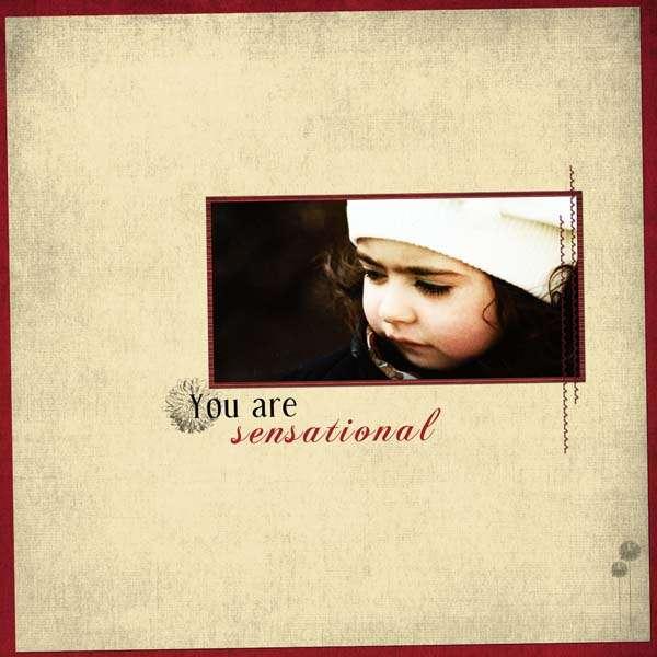 You are sensational