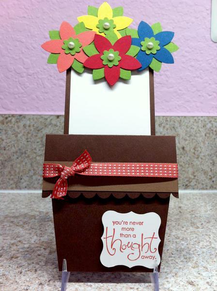 Flower Pot Card - A