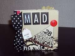 Mad Hatter Scrapbook Cover